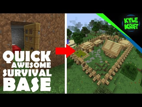 Minecraft | Quick Awesome Starting Survival Base!
