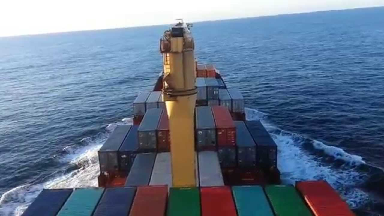 Atlantico sur navegando en barco porta contenedores youtube - Contenedores de barco ...