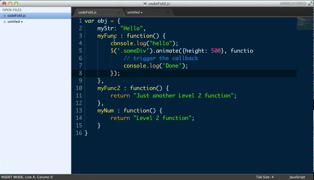 Sublime Text 2 Code Folding   Wes Bos