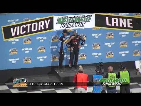 Knoxville Raceway 410 Victory Lane - July 13, 2019