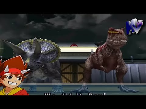 Dinosaur King Arcade Game 古代王者恐竜キング Triceratops And Alpha Gorgosaurus VS Alpha Fortress Hard Mode