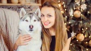 Семейная фотосессия в студии с собаками хаски(, 2016-03-04T11:49:16.000Z)