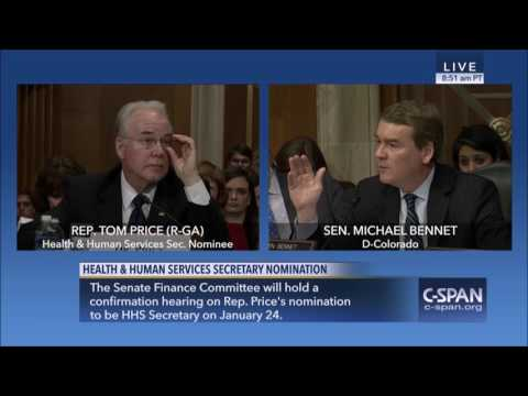 Sen. Michael Bennet Questions HHS Nominee Tom Price