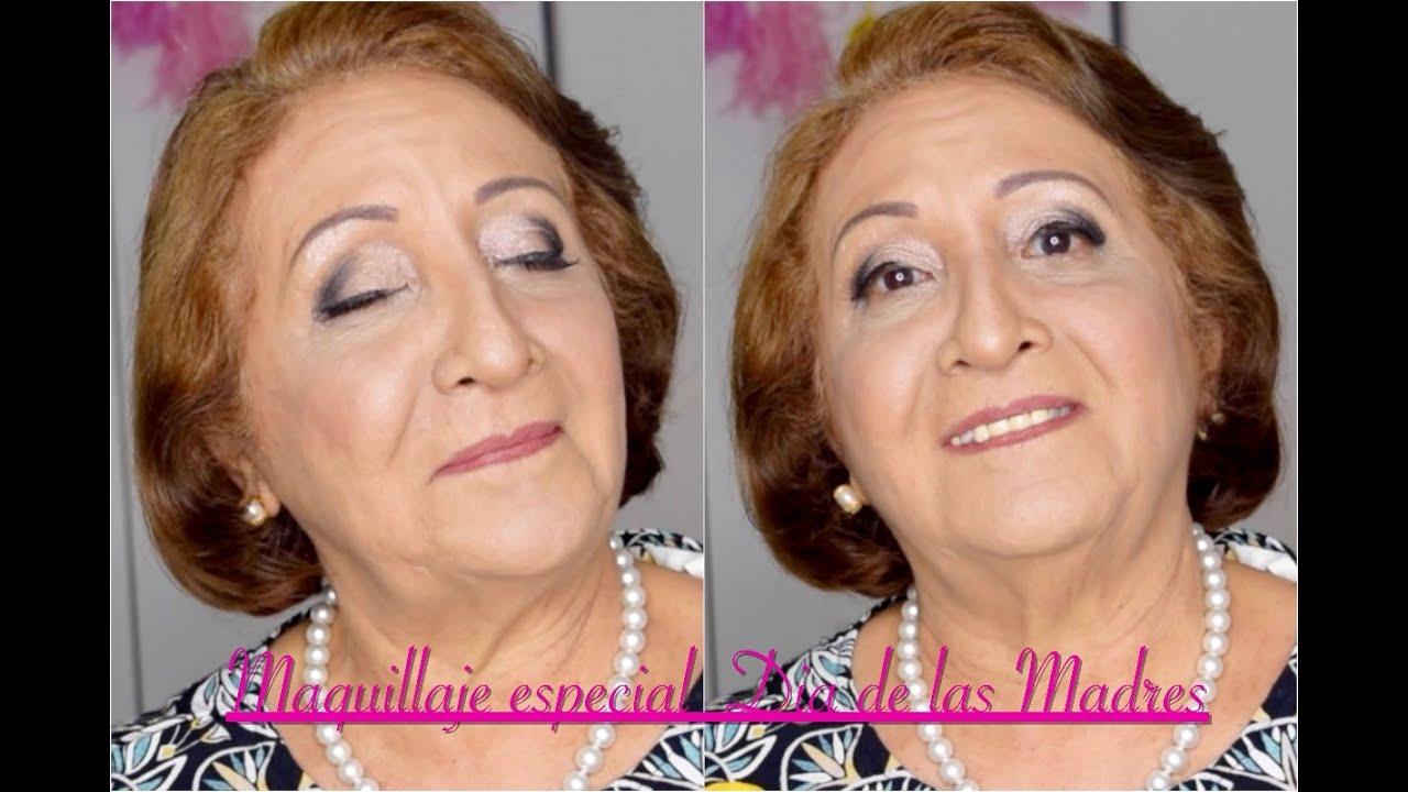 """Abuelas Maduras maquillaje elegante para pieles maduras """"maquillando a mi abuela"""" base  milani, corrector maybelline"""