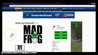 Madfrog volleyball on Roblox!