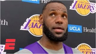 LeBron on his longest injury since junior high, Zion