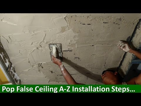 Step By Step Pop False Ceiling Installation Youtube