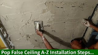 Step-by-Step Pop False Ceiling Installation ...
