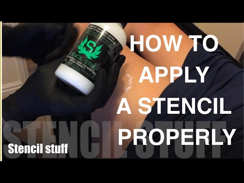 How To Apply Tattoo Stencil Properly