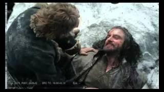 Ричард Армитидж о съемках сцены смерти Торина, с русскими субтитрами