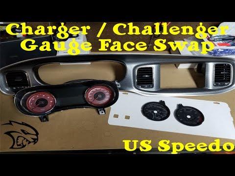 Dodge Charger / Challenger US Speedo Gauge Face Swap