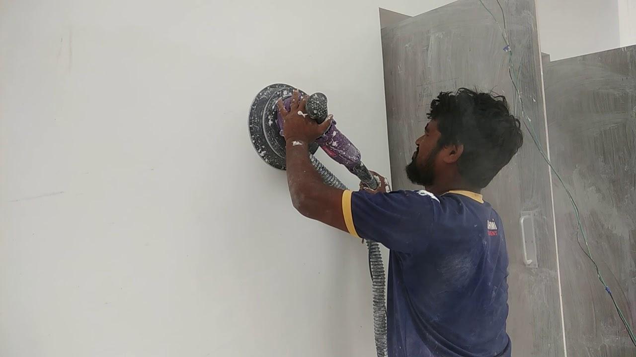 Wall Putty Finishing By Berger Machine Youtube