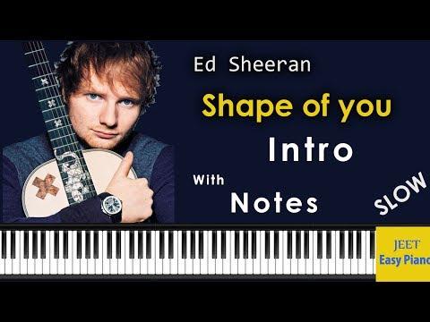 Easy Piano Songs for Beginners /Ed Sheeran Shape of You piano
