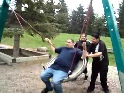 Big Latino Losing HIs Mind On Swing (From The Archives)