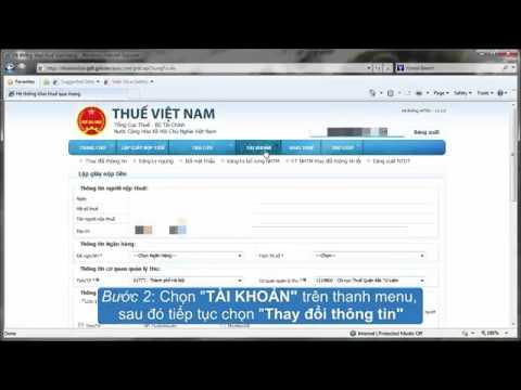 Hướng dẫn thay đổi thông tin tài khoản nộp thuế điện tử