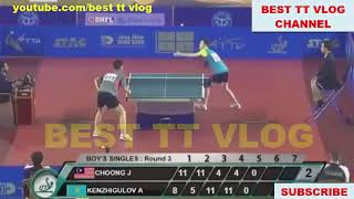 2018 YOG Continental Qualification Asia [MS] CHOONG Javen vs KENZHIGULOV Aidos