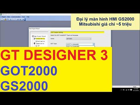 Phần mềm GT Works lập trình HMI Mitsubishi - Unlock Crack bẻ