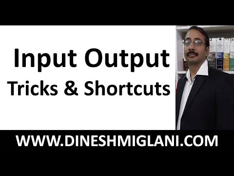 INPUT OUTPUT REASONING FOR BANK PO WITH TRICKS & SHORTCUTS