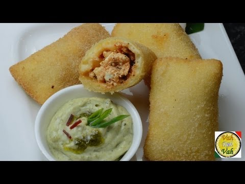 Paneer Pizza Pockets - By VahChef @ VahRehVah.com