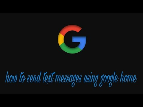 how to send text with google home