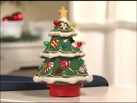 ceramic 2009 musical christmas tree hallmark