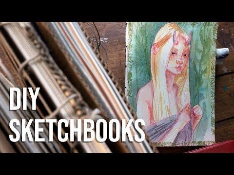 DIY Sketchbooks - My Handmade Sketchbook Process