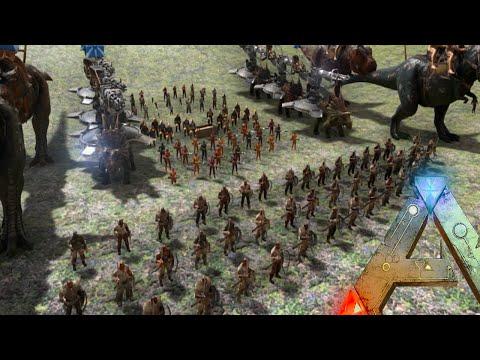 Ark Survival Evolved - Tribe Legion VS Ark Wardens (Ark Epic Boss Battle Gameplay)