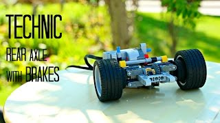 Lego Technic rear axle with Brake  w/ instructions
