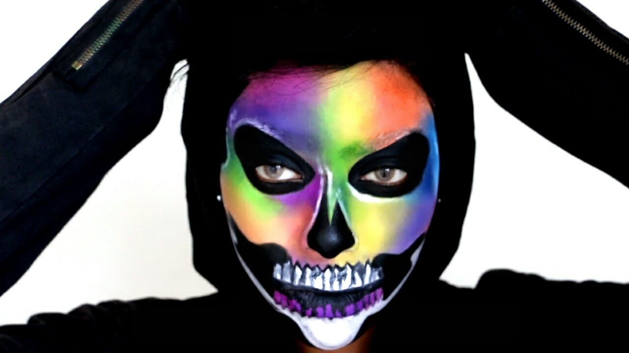 Black And White Skull Face Paint
