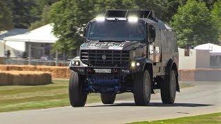 Kamaz Dakar Truck Drifts its way Up The Goodwood HillClimb - 1000HP 12.5 Liter Diesel V8