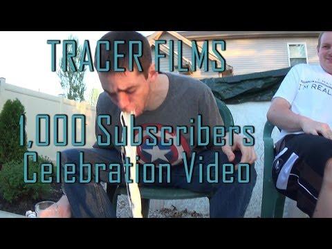 1,000 Subscriber Celebration Milk Challenge - TRACER FILMS
