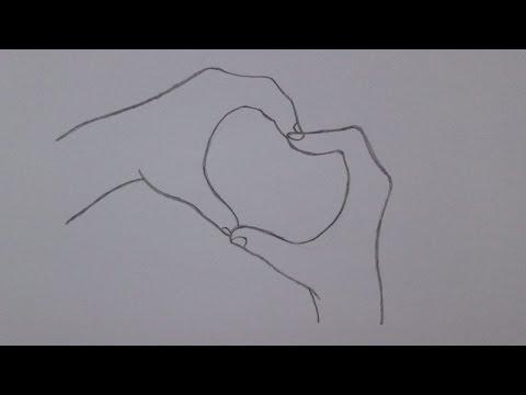 Como Desenhar Maos Fazendo Um Coracao Youtube