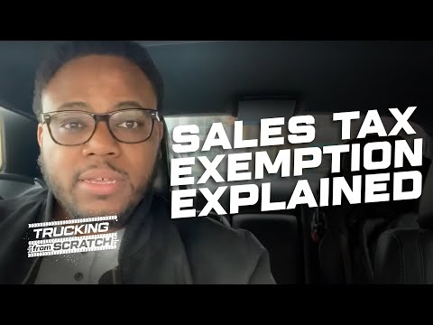 Truckers Shouldn't Pay Sales Tax: Sales Tax Exemption Explained