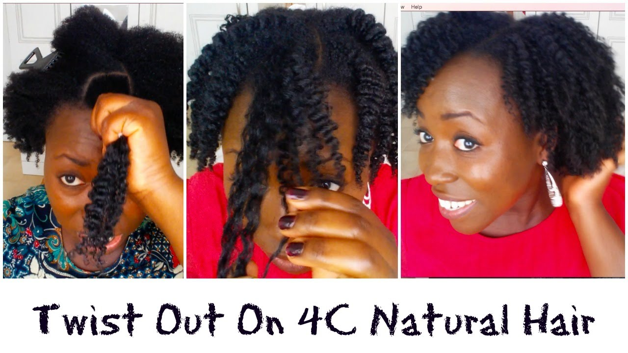 Twist Out On Medium C B A Coily Natural Hair With DIY Aloe Vera - Diy natural hairstyle