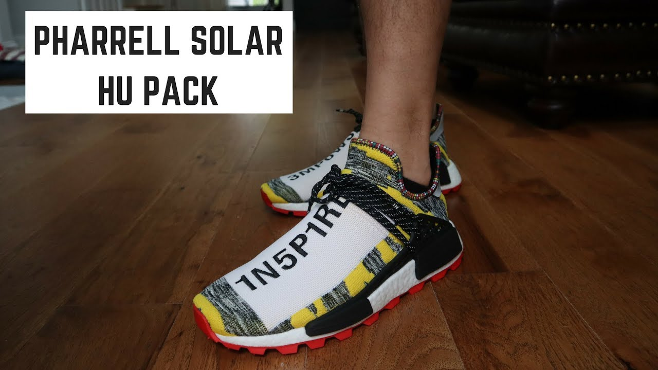 Pharrell Nmd Solar Pack Review On Foot Youtube