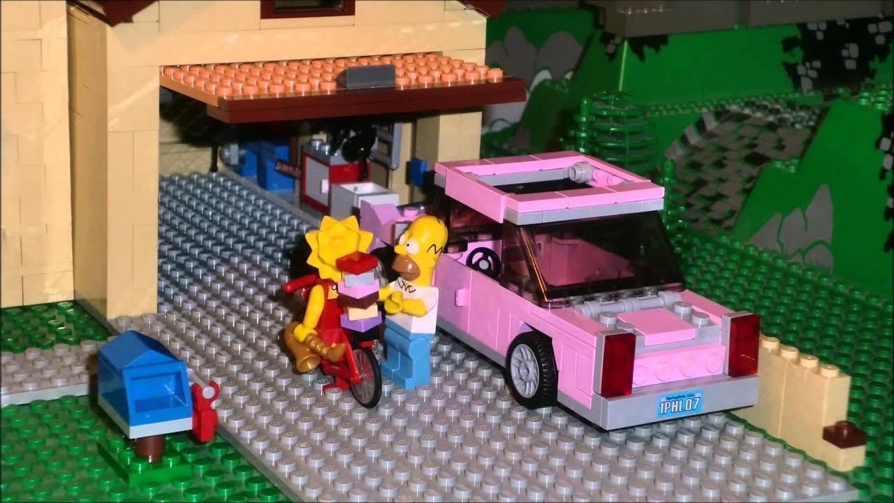brickfilm simpsons intro lego youtube