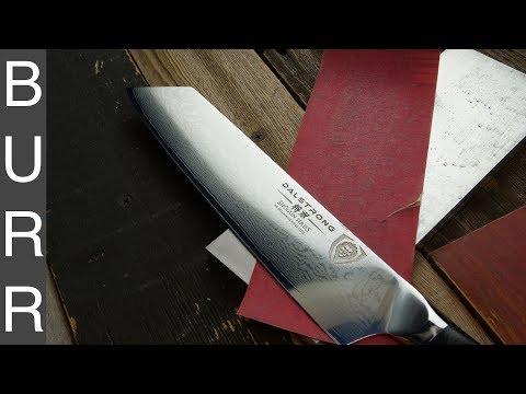 Sharpening Dalstrong Kiritsuke on Sandpaper