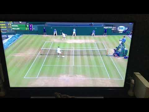 Wimbledon 2017 Nadal wins Epic Point vs Muller