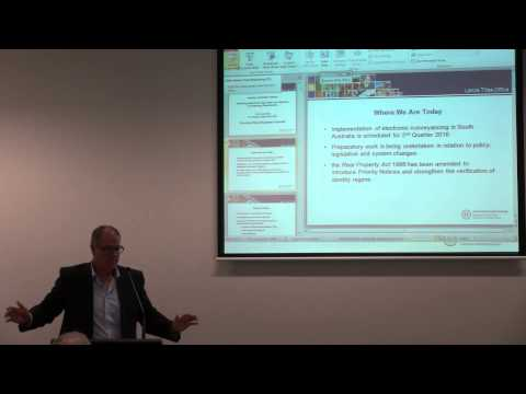 Industry Information Session - aligning paper and electronic conveyancing