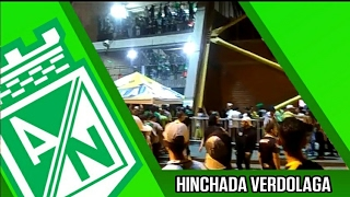 HINCHAS DE ATLÉTICO NACIONAL PREVIO AL PARTIDO CONTRA RIONEGRO ÁGUILAS.