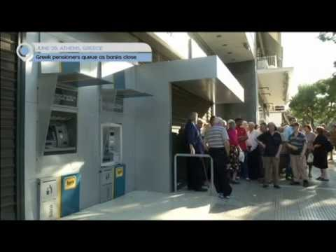 Greece Debt Crisis: Greek pensioners queue as banks close