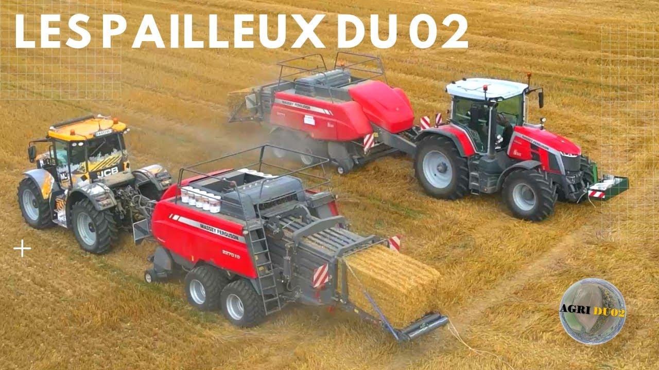 Download Les PAILLEUX du 02 // DUO PRESSE MASSEY [JCB FASTRAC // MASSEY FERGUSON 8S