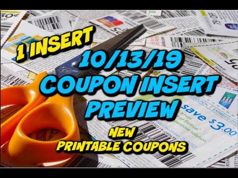 10/13/19 COUPON INSERT PREVIEW | NEW PRINTABLE COUPONS & RESETS!!!