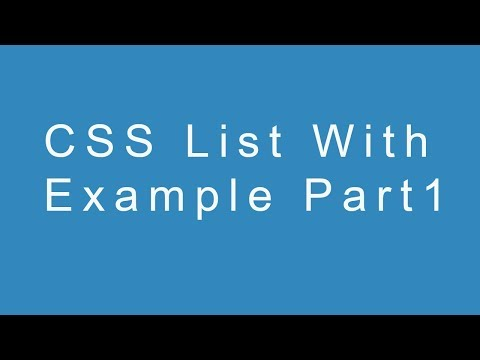 CSS List With Example Part 1 thumbnail