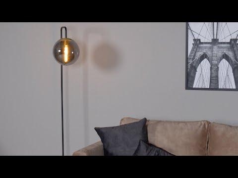 Vloerlamp Ebba 1-lichts Smoke