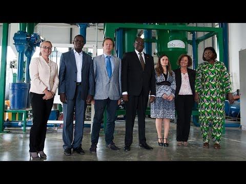 Il Ministro dell'Agricoltura del Burkina Faso Mahama Zoungrana in visita presso l'impianto Hyst