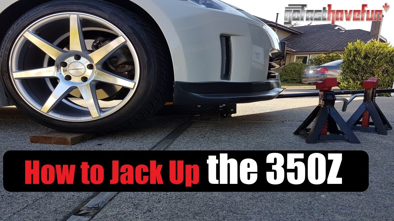 How to Jack Up/ Lift the Nissan 350Z / Infiniti G35 when ...
