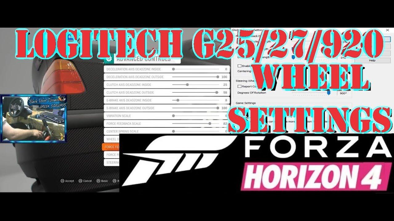 ce0ef372bb0 900° Drift Wheel Settings Logitech G25/27/29/920   Forza Horizon 4 ...