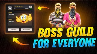 How to join BOSS guild 🤯❤️ EVERYONE - Garena Free Fire