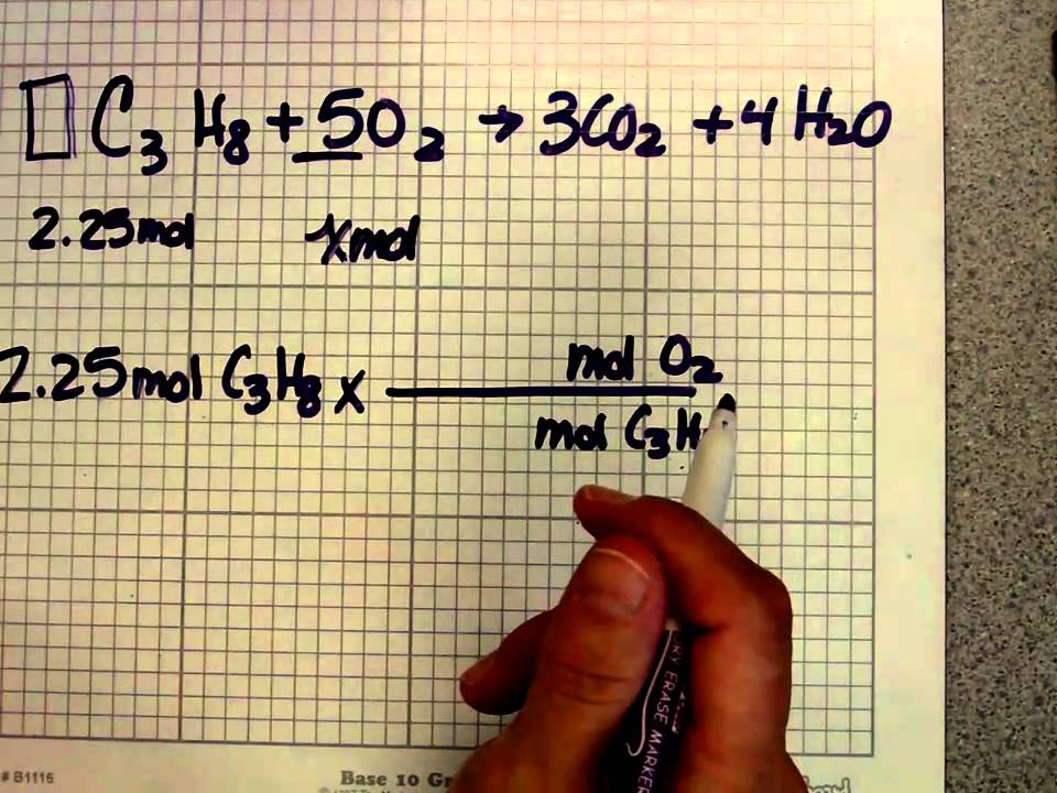 Chemistry Stoichiometry Mole Mole Problems Youtube